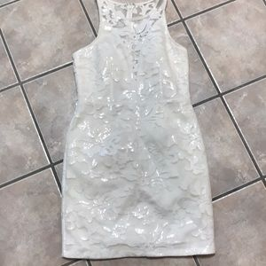 Sequin white party dress.